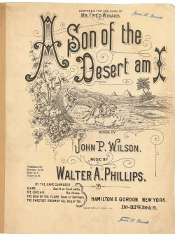 SON OF THE DESERT AM I, A