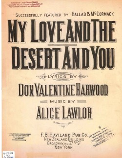MY LOVE AND THE DESERT AND YOU