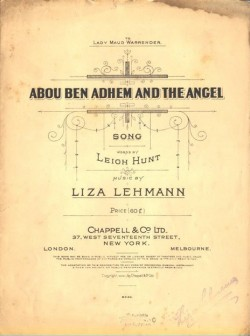 ABOU BEN ADHEM AND THE ANGEL